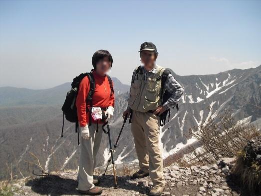 11 夏山登山道8合目付近から元谷方面