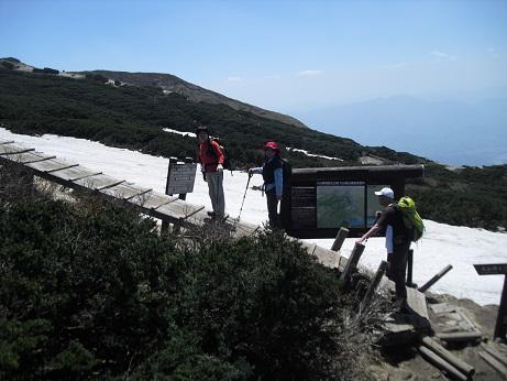 12 夏山登山道8合目9合目の周回路分岐