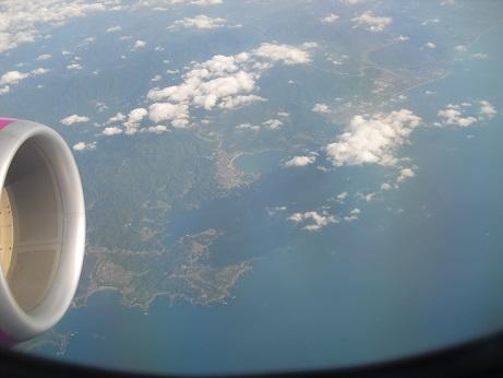 3 熊野灘上空
