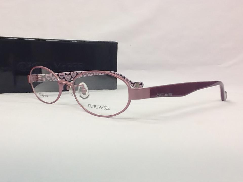 セシルマクビー 品番:CMF-3006 フレームカラー:4(ピンク) レンズサイズ:52ミリ