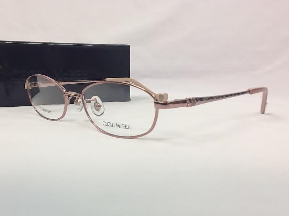 セシルマクビー 品番:CMF-3005 フレームカラー:4(ピンク) レンズサイズ:52ミリ