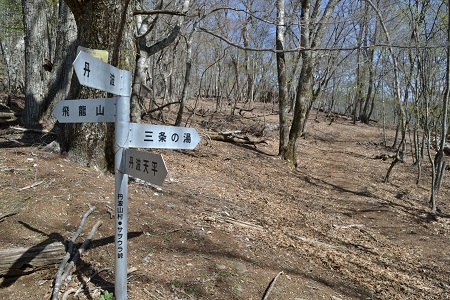サヲウラ峠の道標