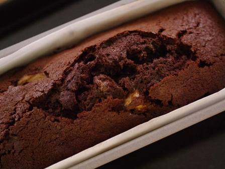 完熟バナナのココアパウンドケーキ07