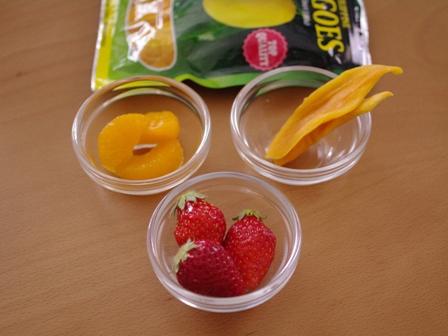 ホットケーキミックスで簡単一度に3種のフルーツカップケーキ03