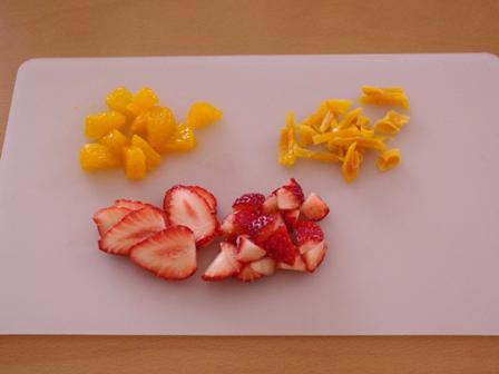 ホットケーキミックスで簡単一度に3種のフルーツカップケーキ04