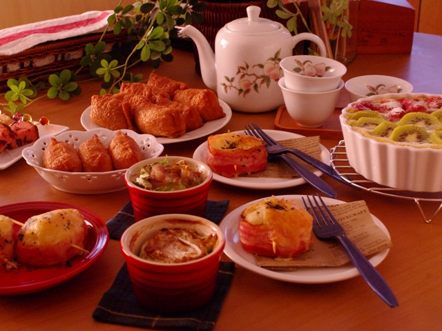 ごちそうテーブルの料理たち20140318
