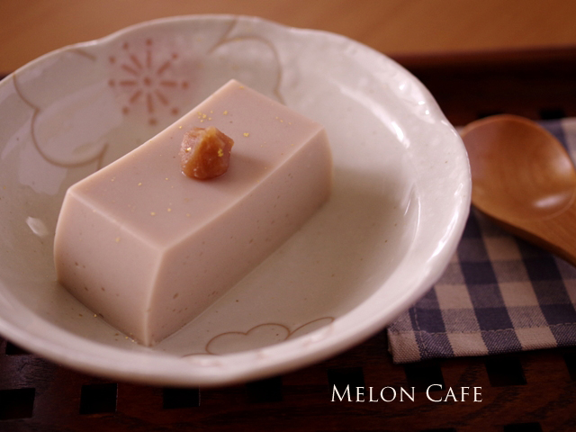 マロンペーストでつくる栗豆腐