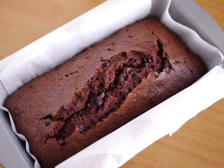 デコレーション用ダブルチョコパウンドのケーキ