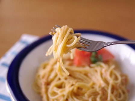 トマトまるごとマスカルポーネの冷製パスタ簡単ひんやりランチ01