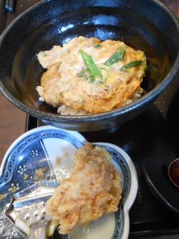 玉子丼と鶏天
