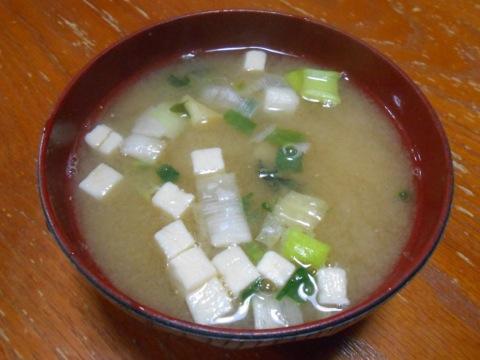 長ネギ豆腐