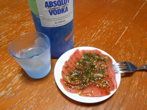 トマトのウスターソースサラダ
