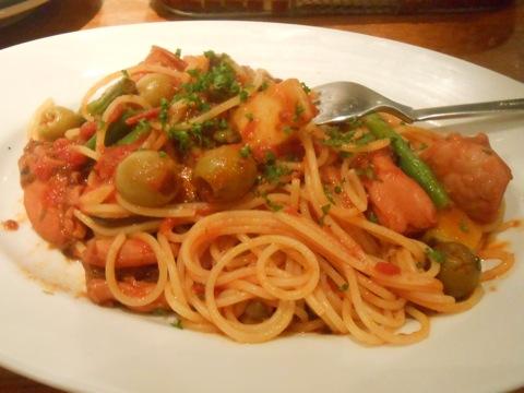 タコのスパゲッティ