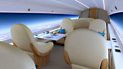 次世代超音速ジェット機は、窓が無くなり壁を全面ディスプレイへ!1