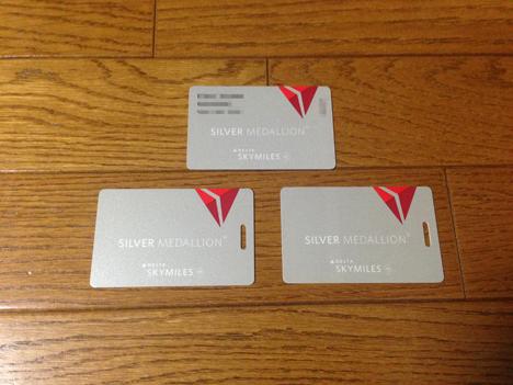 デルタ スカイマイル シルバーメダリオンの会員証が届きました4