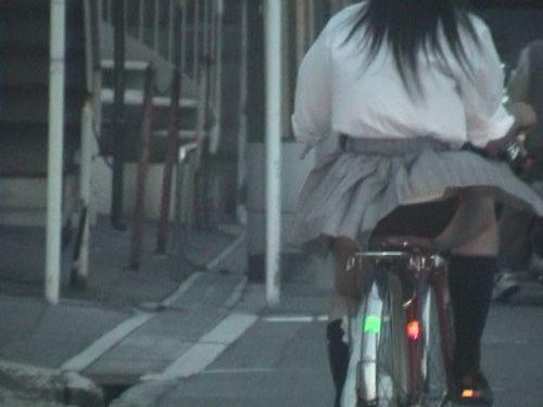 【盗撮画像】 自転車通学してる女子高生って隙があってエロイよな! No.1