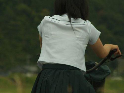 【三次画像あり】 パンチラ上等!自転車をミニスカでまたがる女子校生! 28枚 part.10 No.1