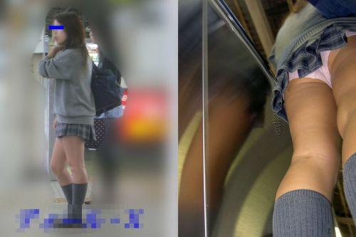 【三次・逆さ撮り画像】 真面目そうな制服JKの下着って意外とエロそうじゃね?? 56枚 part.12 No.49