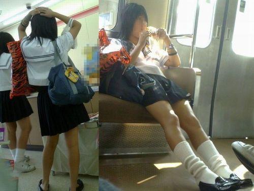【画像】 電車通学中の美脚JKの太ももがエロ過ぎでワロタw 40枚 No.36