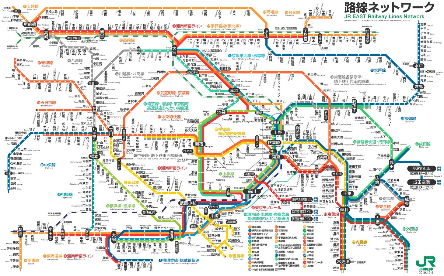 JR東日本_東京近郊路線図