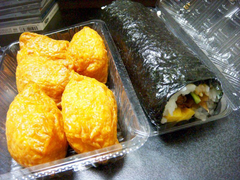 輪島の稲荷寿司と太巻き