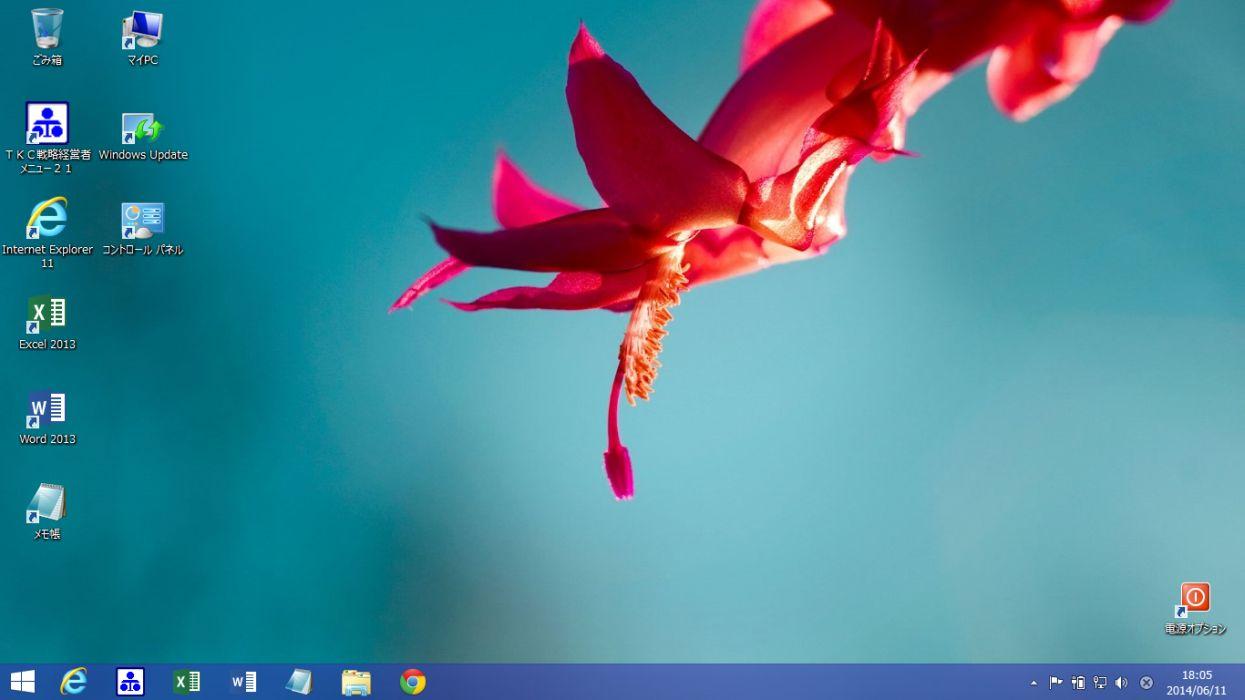 Windows8.1 調整後画面
