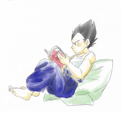 読書する王子