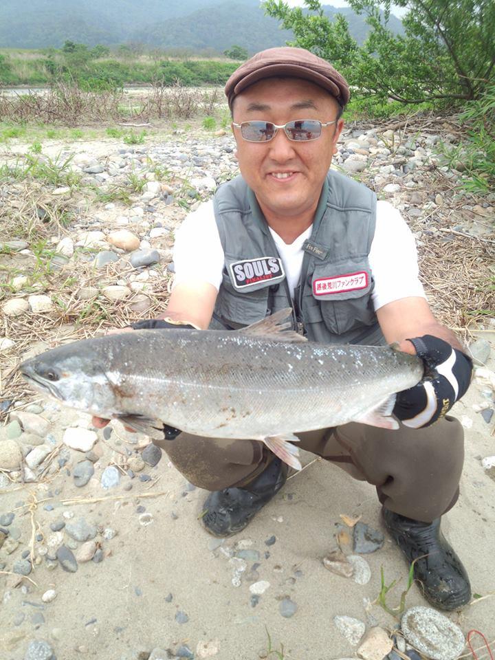 2014荒川サクラマス釣り いそべの若大将