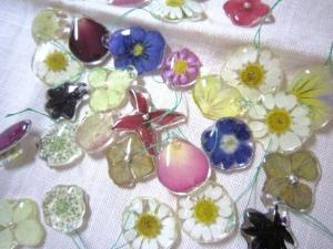 パーツ押し花