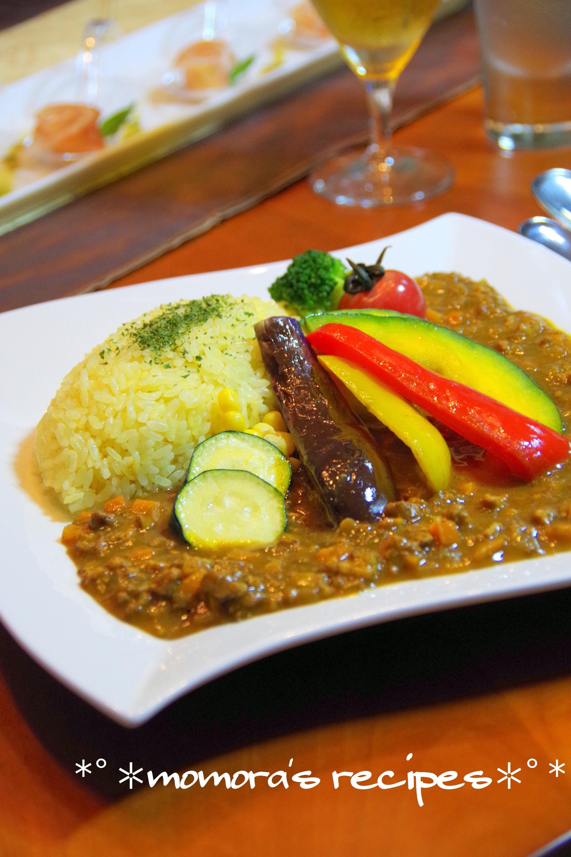 夏野菜キーマカレー