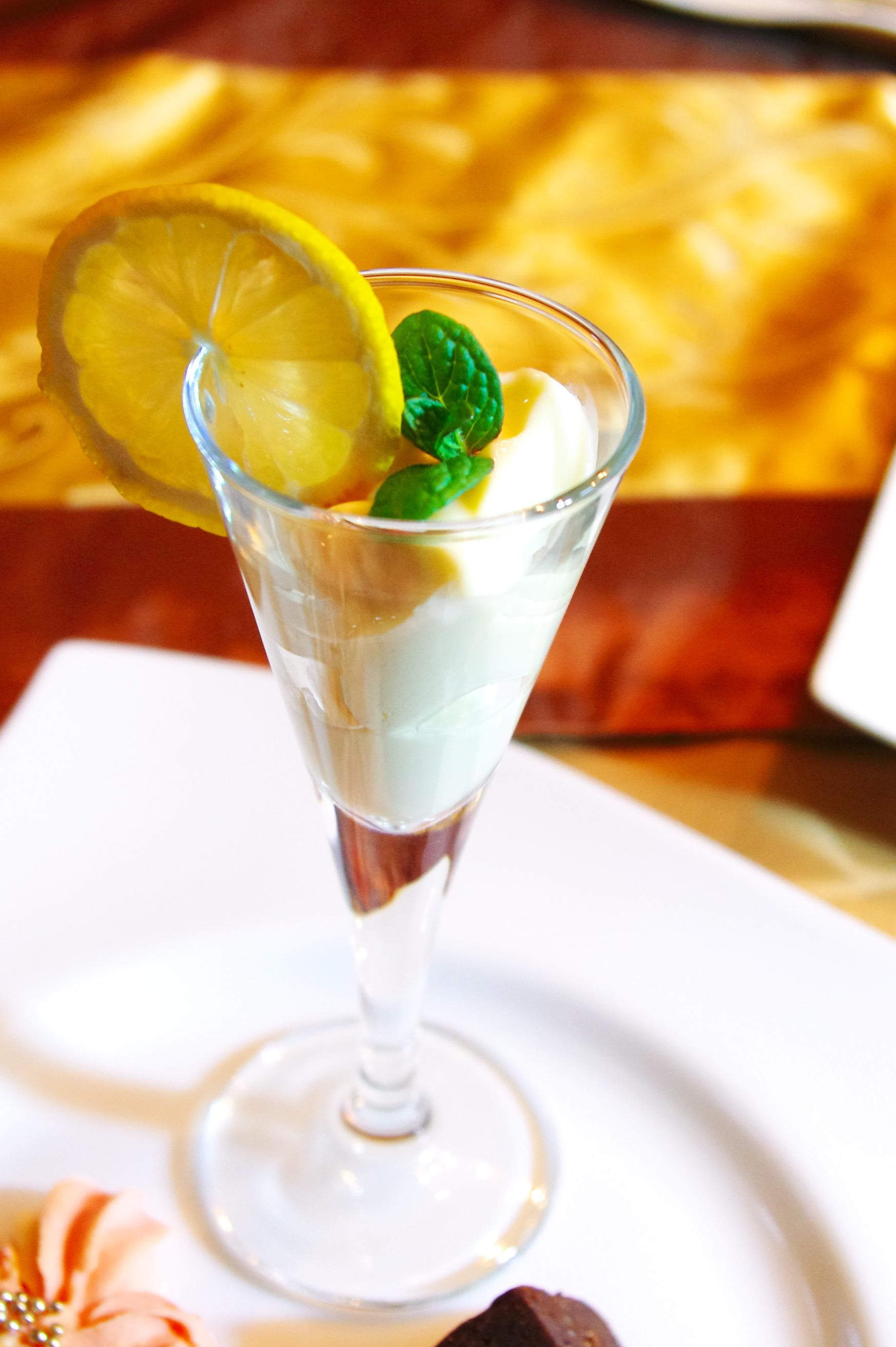 桃のアイス