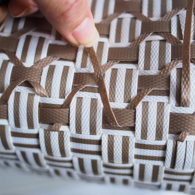 プラカゴ、ダイヤフェンス柄の編み方