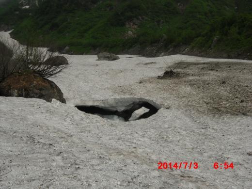 馬尻 雪渓倒壊