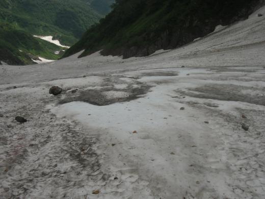 ツルツル大雪渓