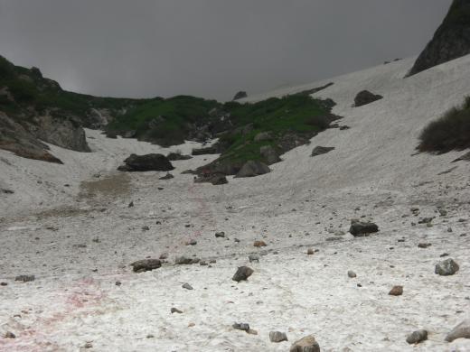本日の大雪渓2