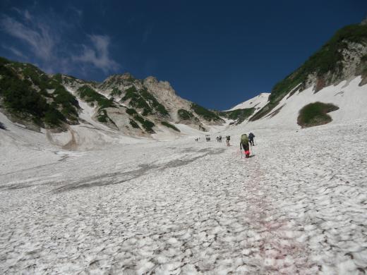 2 本日の大雪渓