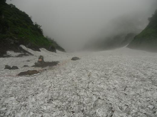 7.14 本日の大雪渓
