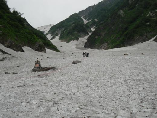 7.13 本日の大雪渓