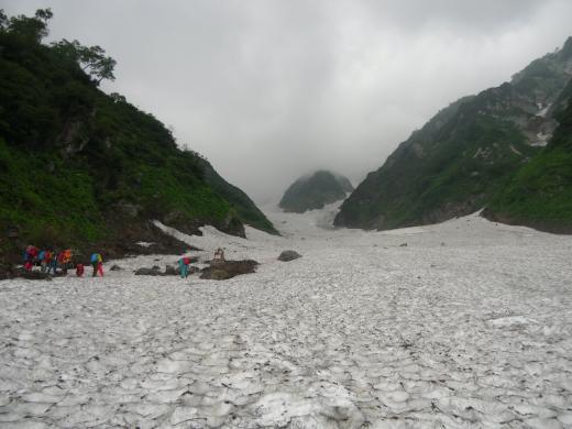 7.16 本日の大雪渓