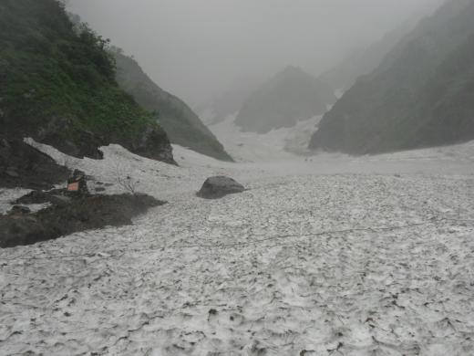 7.17 本日の大雪渓