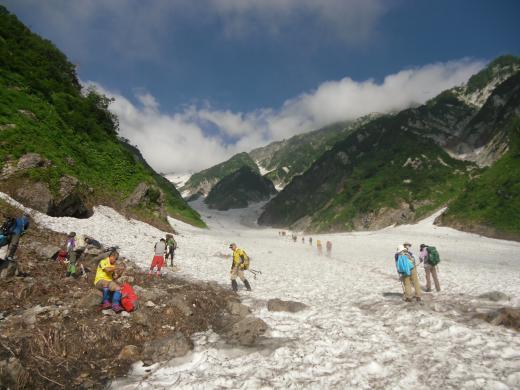 7.22 本日の大雪渓