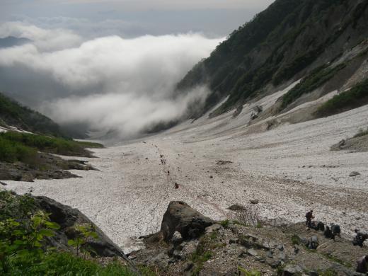 37.23 本日の大雪渓