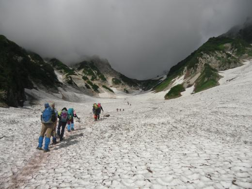 7.25 本日の大雪渓3