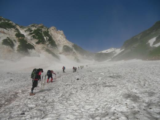 27.28 本日の大雪渓