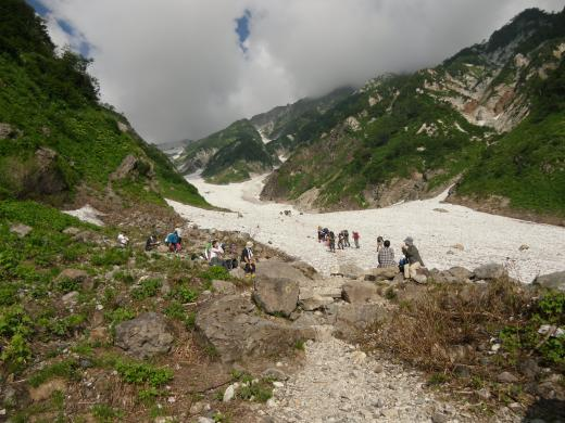 7.31 本日の大雪渓
