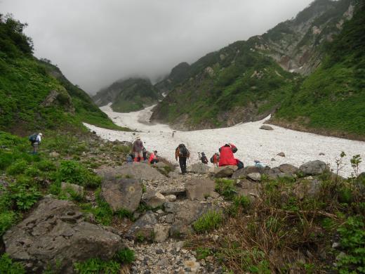 8.4 本日の大雪渓