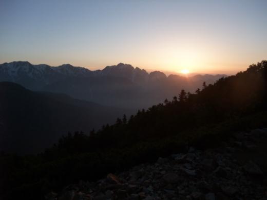 夕日 剣、立山