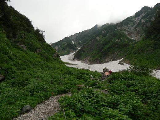 8.8 本日の大雪渓