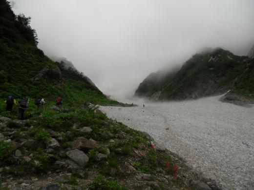 8.15 本日の大雪渓