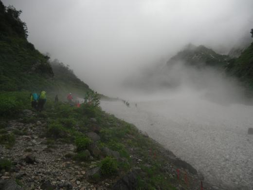 8.18 本日の大雪渓